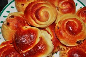 Sweet rolls for breakfast